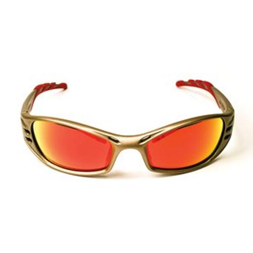 3M – Fuel – Koruyucu Göz Aksesuarları, 11640-00000-10 Kırmızı Ayna Cam, Metalik Kum Çerçeve