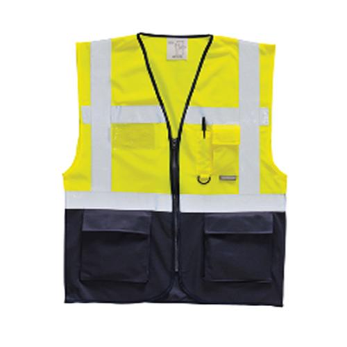 Reflektörlü Mühendis Yeleği – Sarı Lacivert